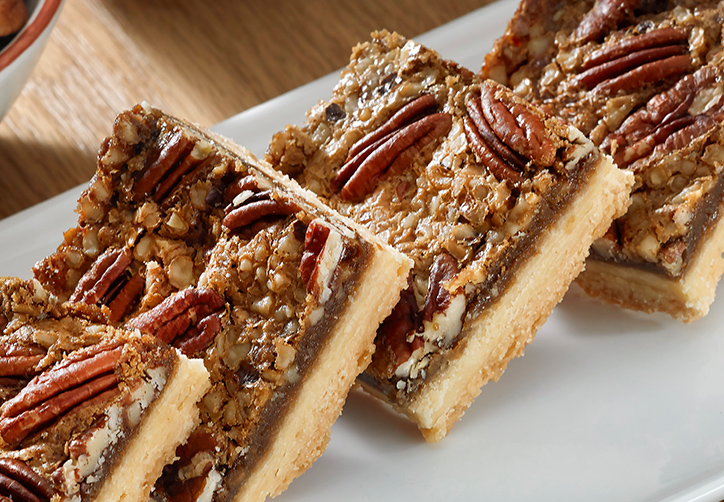 Gluten free Pecan and Walnut slice