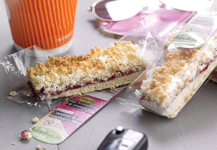 Gluten Free Coconut & Raspberry Slice Individually Wrapped