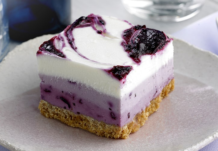 Blackcurrant Ombre Cheesecake