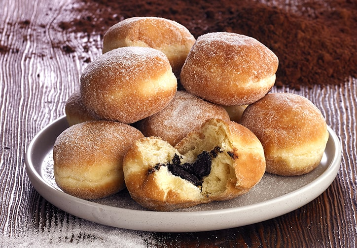 Chocolate Filled Mini Beignets
