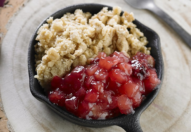 Gluten Free & Vegan Blackberry & Apple Crumble