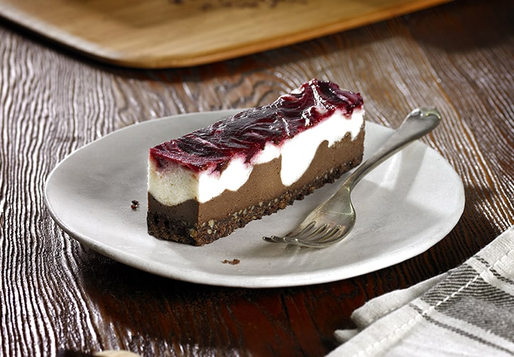 Gluten Free & Vegan Chocolate, Vanilla & Cherry Cheesecake