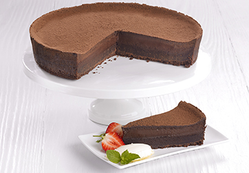 Belgian chocolate cheesecake