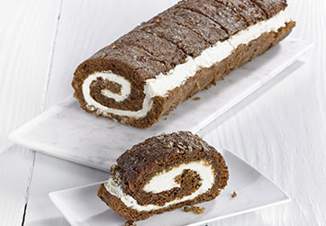Caramel and Pecan roulade