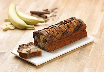 Banana and chocolate loaf