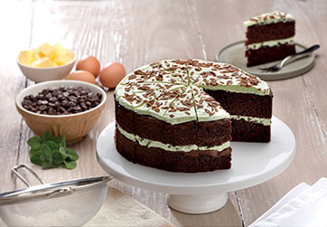 Gluten free Mint Chocolate Cake