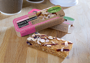 GLUTEN FREE AND VEGAN AMBIENT CHERRY BAKEWELL FLAPJACK