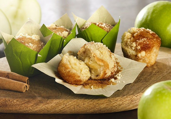 APPLE & CINNAMON FILLED MINI MUFFINS