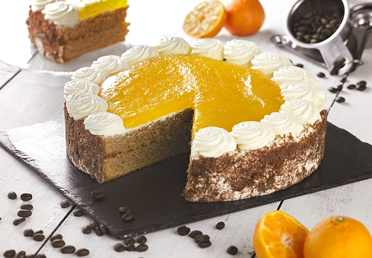 Coffee Mandarin Gateau