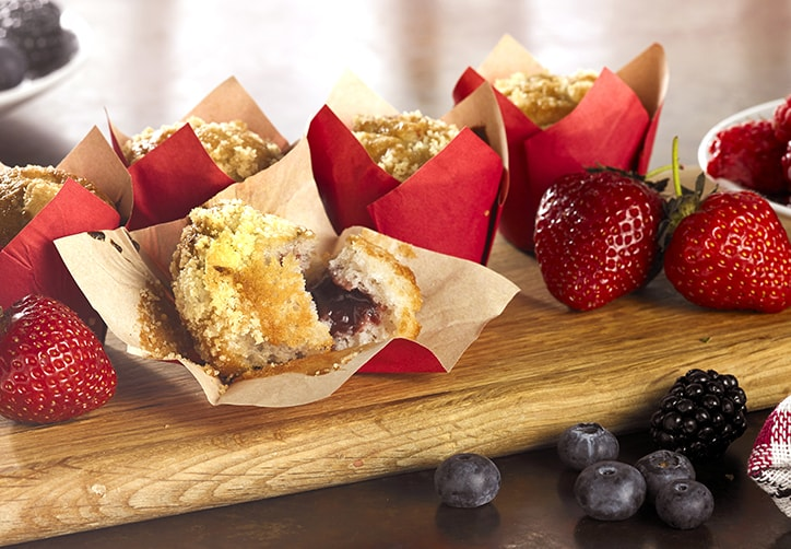 RED FRUITS FILLED MINI MUFFINS