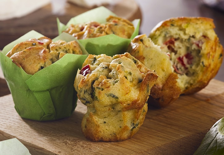 SPINACH, FETA & RED PEPPER MINI MUFFINS