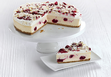 Raspberry and White Chocolate Snowflake Cheesecake