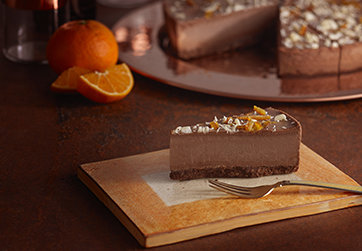 Milk chocolate orange  cheesecake