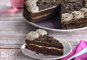 Double chocolate Gateau