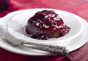 Blackcurrant & Liquorice Pudding
