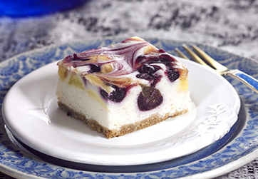 Vegan Lemon & Blueberry Cheesecake