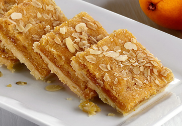 Vegan apricot, Orange and Almond Slice
