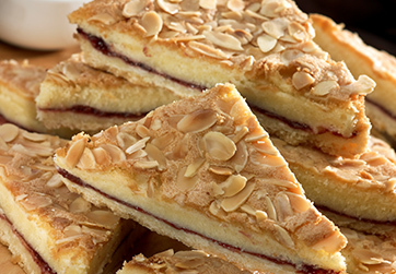 Black cherry and almond slice