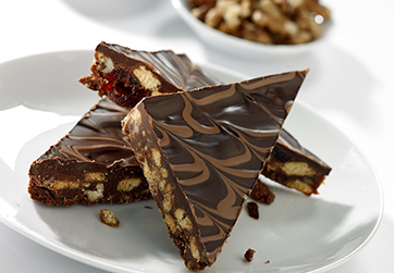 Chocolate fruit and nut slice
