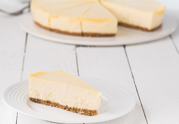 Deep creamy cheesecake