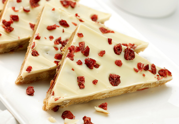 White chocolate and Cranberry Tiffin